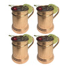 GiftBay Mug-101 Moscow Mule Copper Mug Set of 4, Unique Hammered Design, 16 Ounce Size