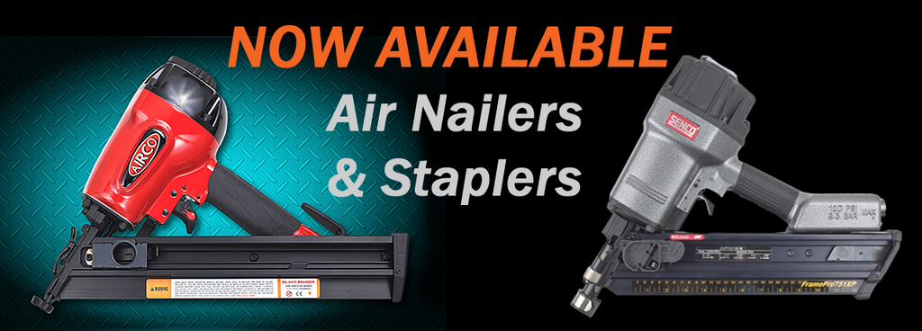 Now stocking Airco & Senco Air Staplers & Nailers