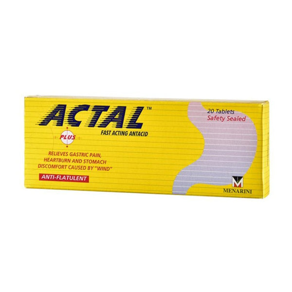 ACTAL PLUS FAST ACTING ANTACID TABLETS