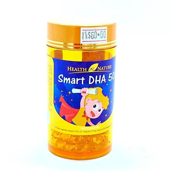 HEALTH NATURE SMART DHA FIFTY CAPSULES