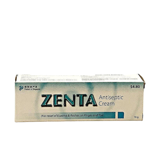 ZENTA ANTISEPTIC CREAM (FOR RELIEF OF ECZEMA & RASHES ON FINGER AND TOE)