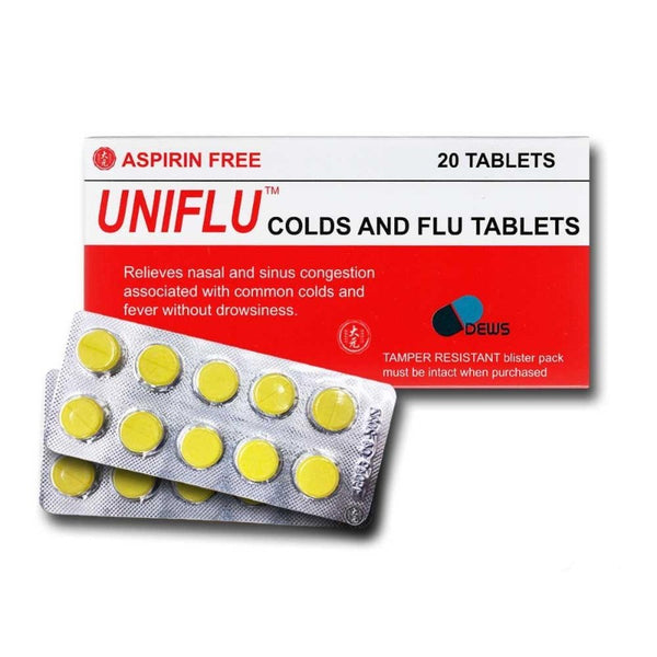 UNIFLU COLDS AND FLU TABLETS (ASPRIN FREE)