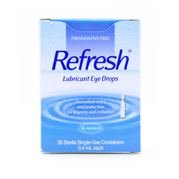 REFRESH LUBRICANT EYE DROPS STERILE SINGLE USE CONTAINERS