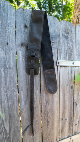 Custom Hand Sewn Leather Guitar Strap