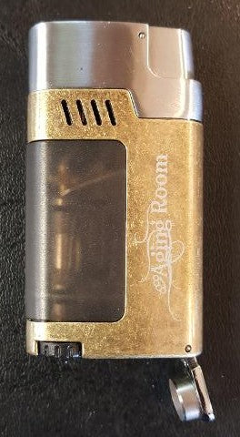 FREE AGING ROOM TRIPLE-FLAME TORCH LIGHTER WITH BUILT-IN PUNCH CUTTER