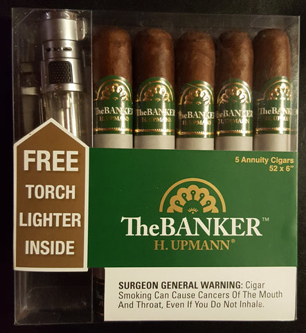 H. Upmann The Banker Gift Set w/ Torch Lighter