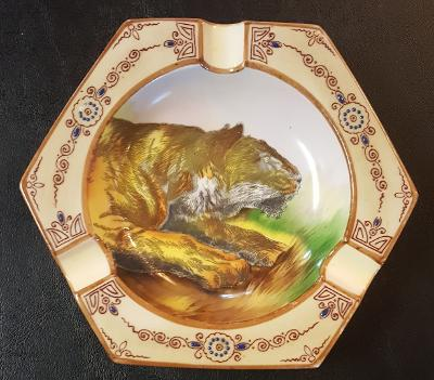 "Antique Ashtray: Noritake ""Tiger"""
