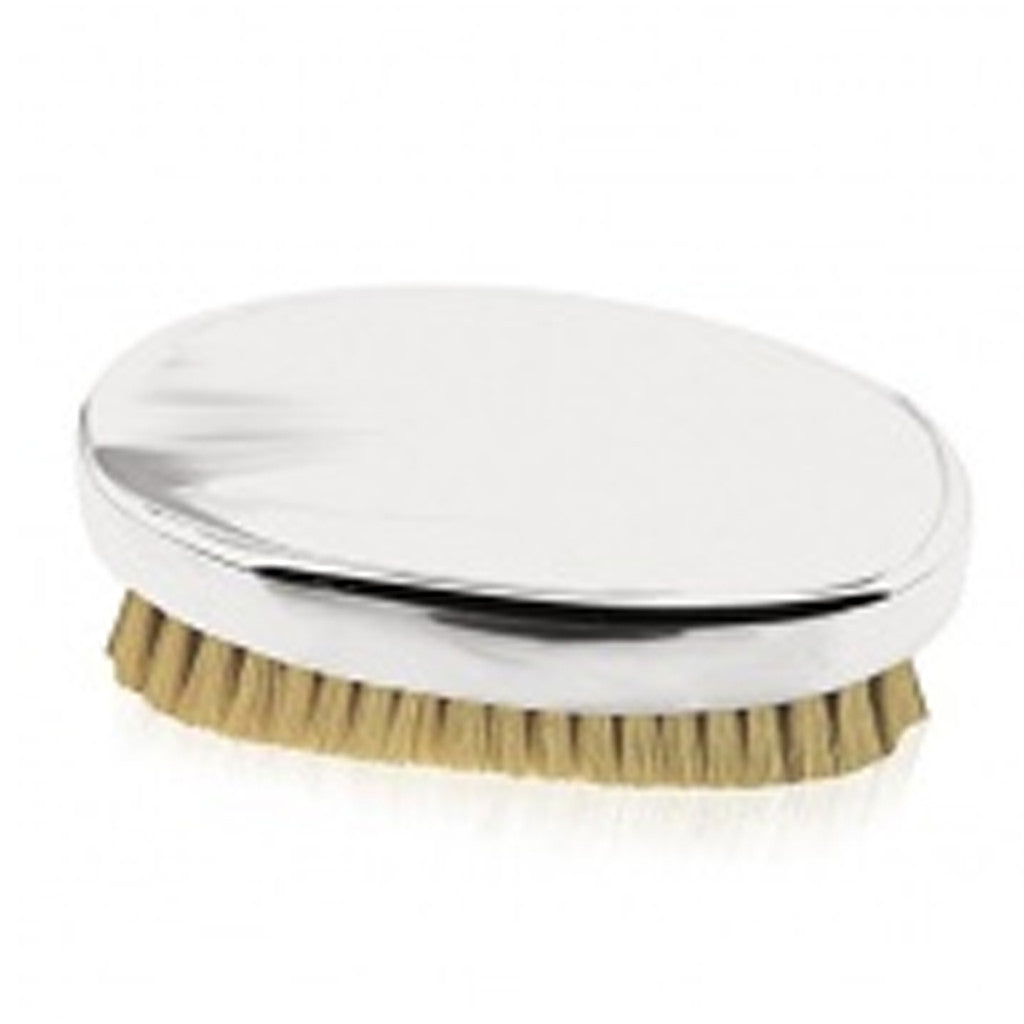 Brush: Oval Military, Plain Pewter