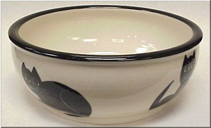 Pottery: Black Cat Mixing Bowl