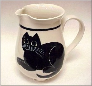 Pottery: Black Cat Pitcher