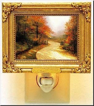 Night Light: Autumn Lane by Thomas Kinkade