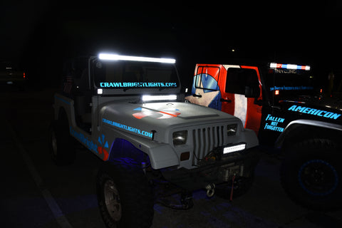 crawlbright yj led lights tampa bay jeep fest