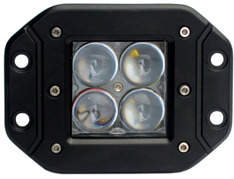 "3"" LED Light Pod, Flush Mount, Flood Beam, 20W"
