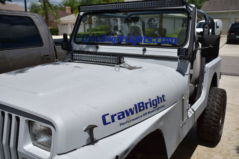 "Window Frame Bracket for 50"" Light Bar & Pods on Jeep YJ"