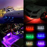 Color Changing Bluetooth Rock Light Kit, 4 Lights