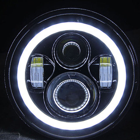 "Headlamp, 70W Halo 7"" for Jeep Wrangler, Pair"