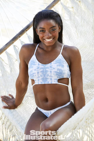 Arrow & Eve featured in 2019 Sports Illustrated Swimsuit Edition, worn by Simone Biles