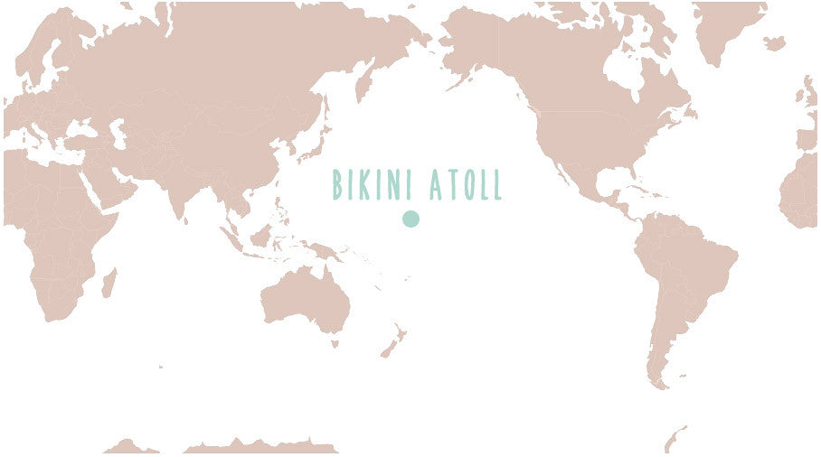 World Map of Bikini Atoll islands - Marshall Islands - Pacific Ocean