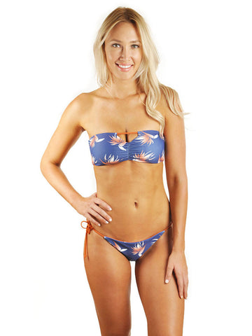 Hannah Braid Bandeau Top - Blue Bird Of Paradise/Deseret Orange