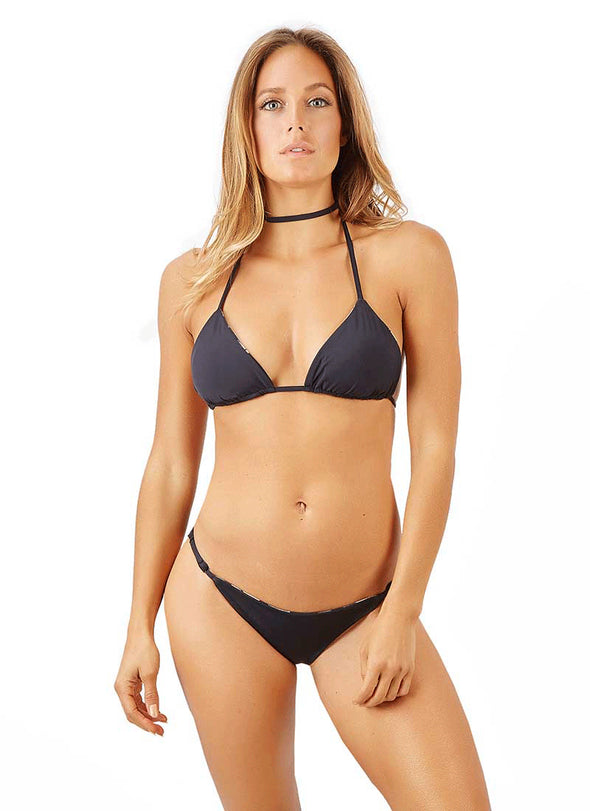 Nina Adjustable Scrunch Bottom -  Black