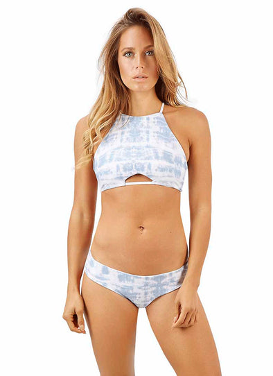 Mazie Moderate Bottom - Blue Tie-Dye Reversible to White