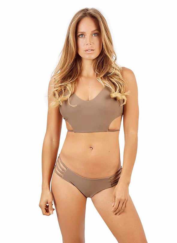 Strappy Jesse Cheeky Bottom - Cappuccino