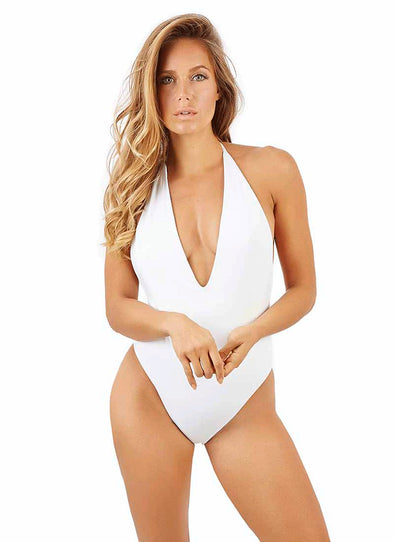 Kyra Deep-V One-Piece - White