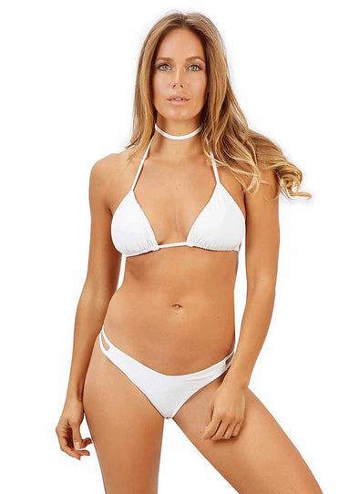Ivy High-Cut Thong Bottom - White
