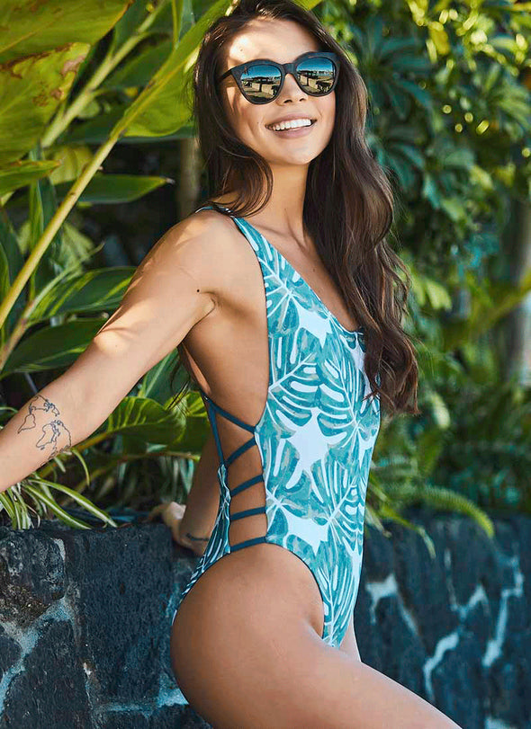 Hartley Scoop-Neck One-Piece - Pacific Palm / Fiji
