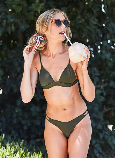 Hampton Bralette Top - Olive