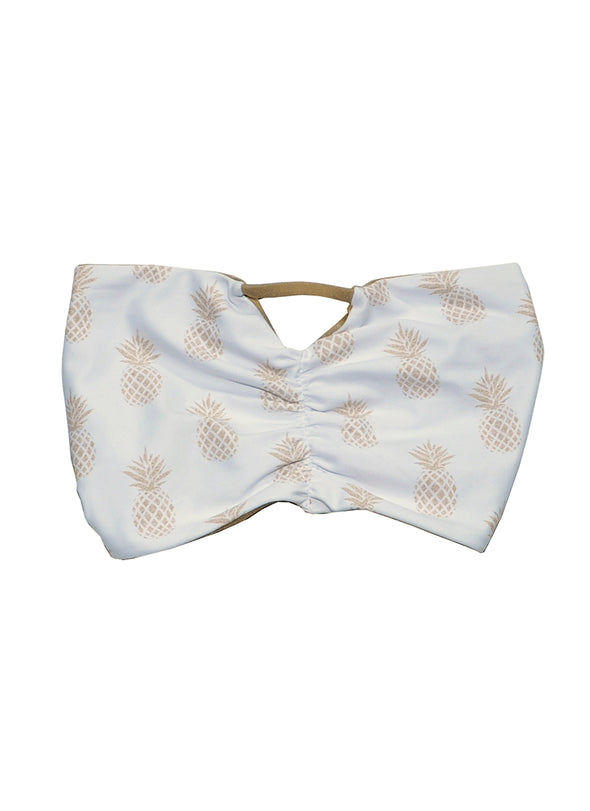 Bryana Bandeau Top - Gold Pineapple / Gold
