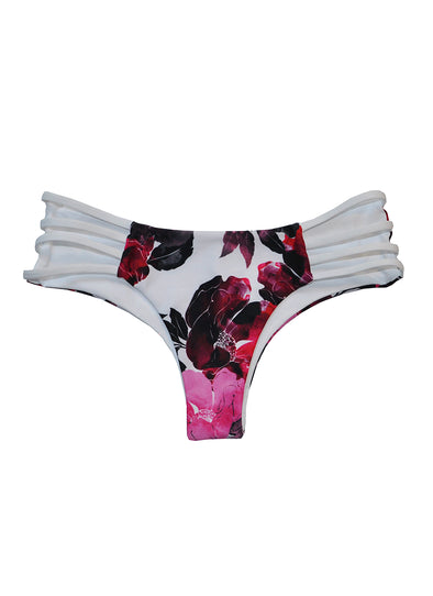 Strappy Jesse Cheeky Bottom - Bella Rosa / White