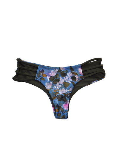 Strappy Jesse Cheeky Bottom - Underwater Floral / Olive
