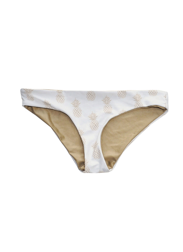 Mazie Moderate Bottom - Gold Pineapple / Gold