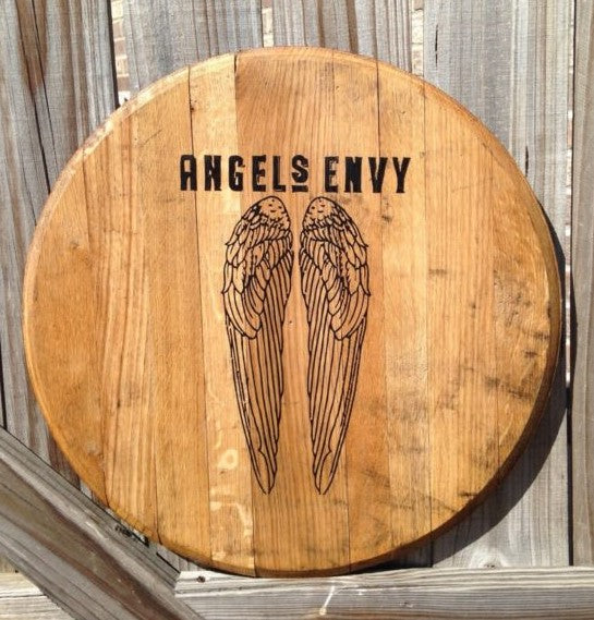 Angel's Envy Bourbon Barrel Head | Whiskey Barrel Head