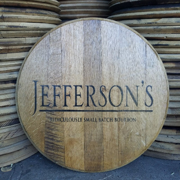 Jefferson's Trace Bourbon Barrel Head | Whiskey Barrel Head
