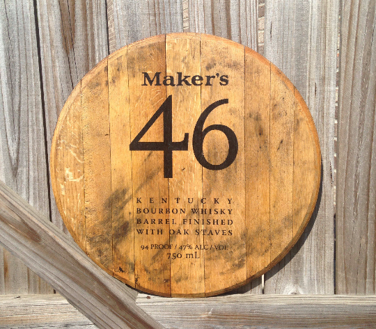 Makers 46 Bourbon Barrel Head | Whiskey Barrel Head