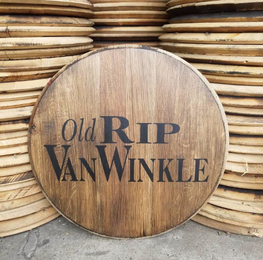 Pappy Van Winkle Bourbon Barrel Head | Whiskey Barrel Head