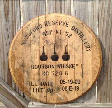 Woodford Reserve Bourbon Barrel Head | Whiskey Barrel Head