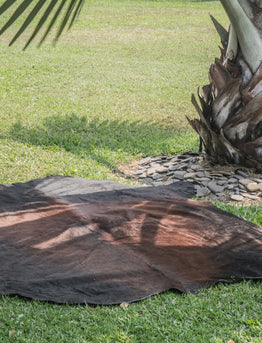 How to fix the Cowhide Rug curling edges - Decohides