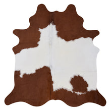 Load image into Gallery viewer, Cowhide Rug Brown and White