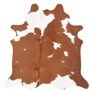 Cowhide Rug Brown and White