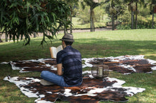 Load image into Gallery viewer, Cowhide Rug Tricolor