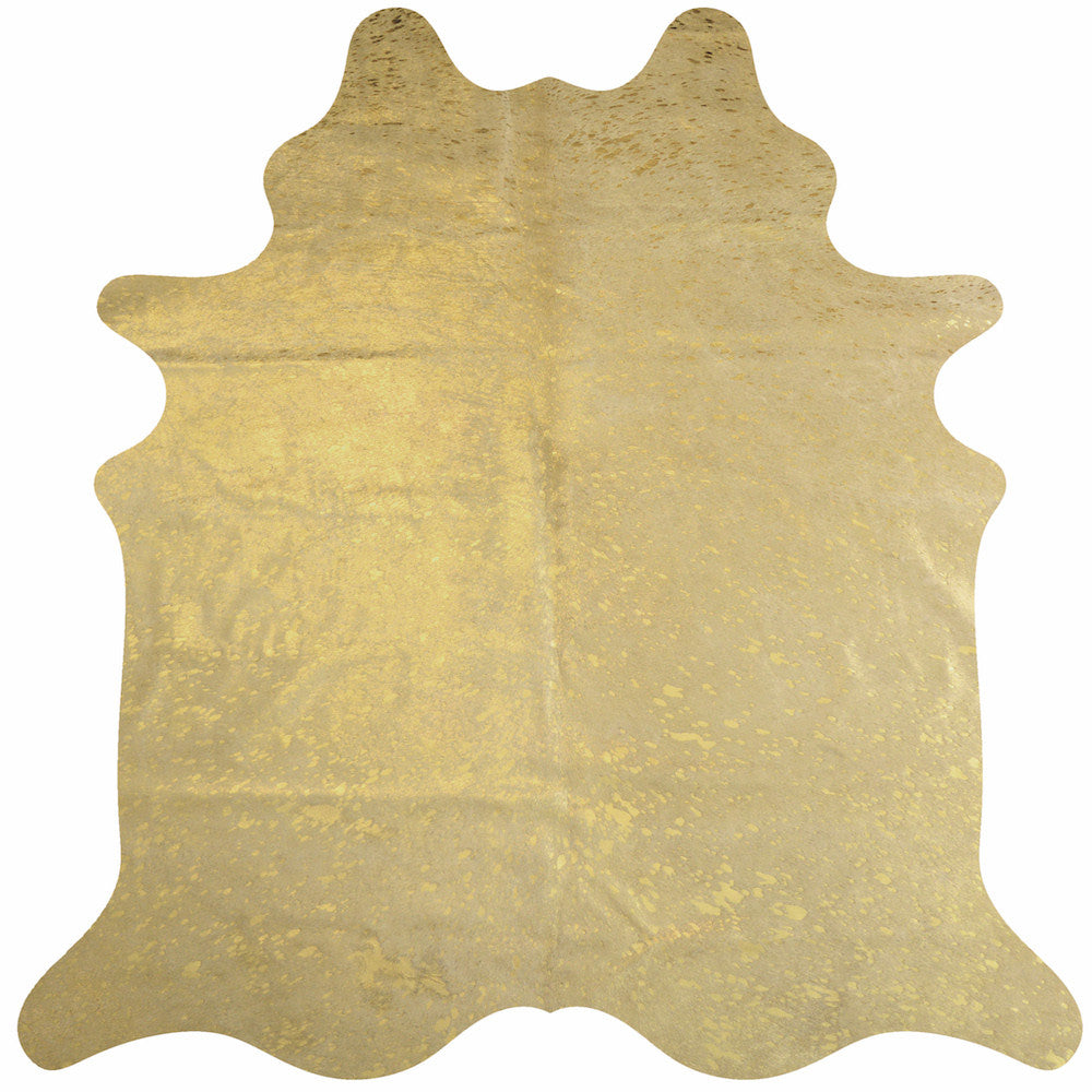 Devore Metallic Gold Cowhide Rug | Decohides®