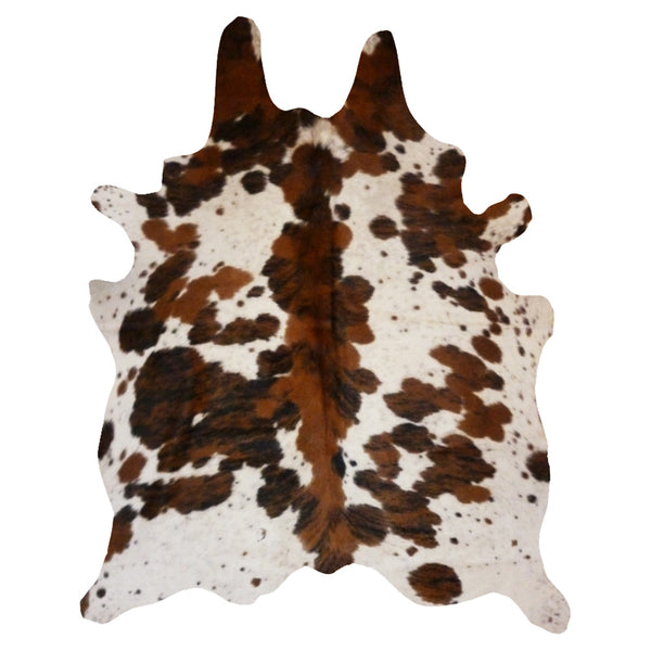 real cowhide rug spine tricolor decohides