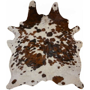 Real Cowhide rug Salt and Pepper Tricolor | Decohides®