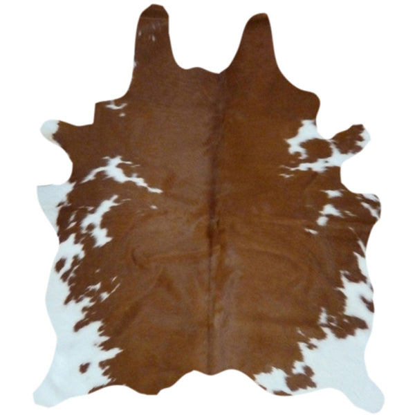 cowhide rug brown and white decohides