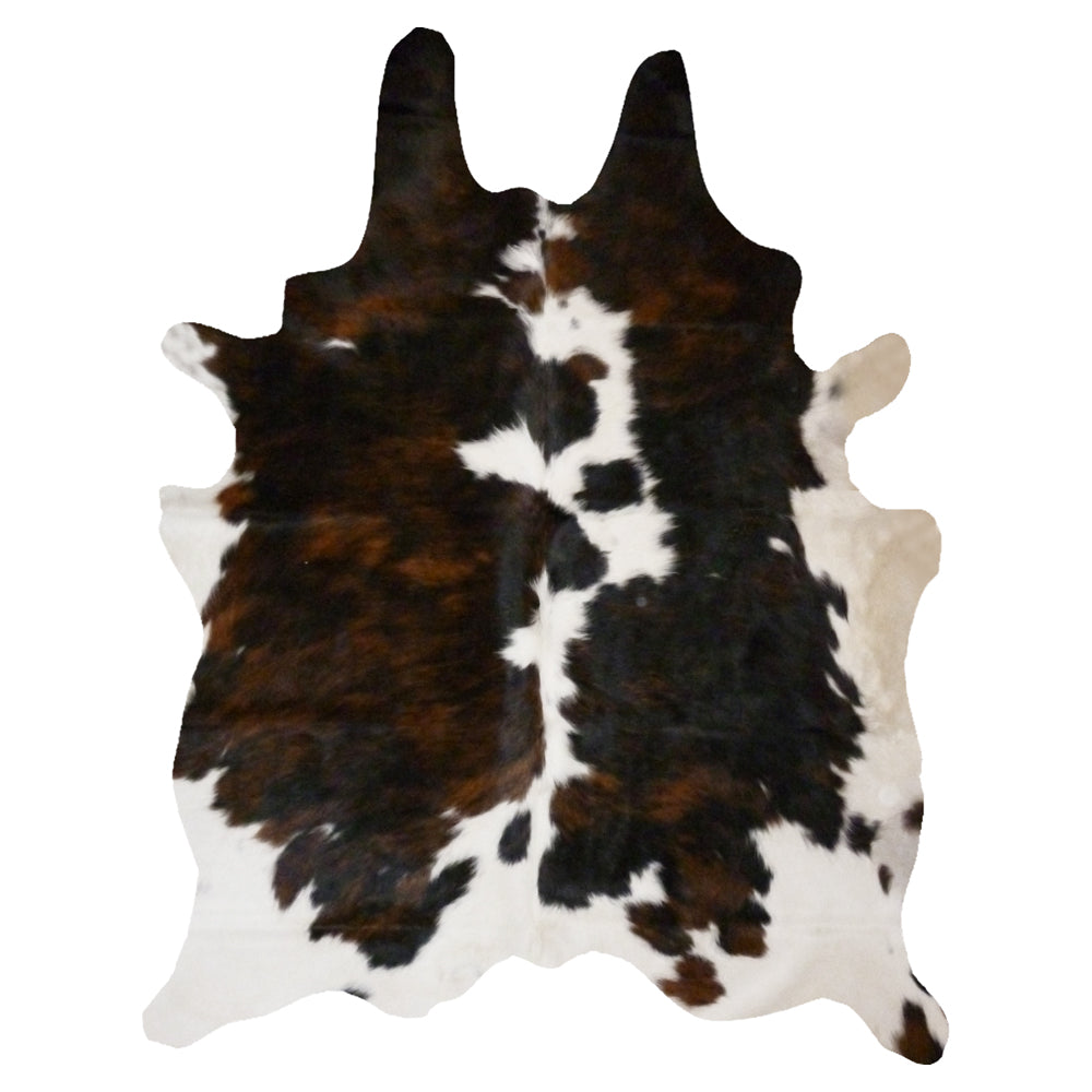 Cowhide Rug Brindle and White