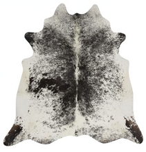 Load image into Gallery viewer, Real Cowhide rug Salt and Pepper Black and White | Decohides®