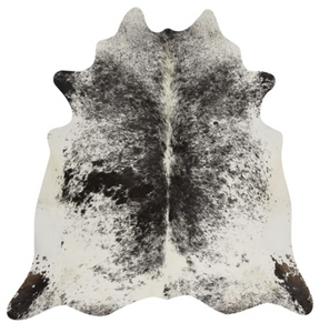 Real Cowhide rug Salt and Pepper Black and White | Decohides®